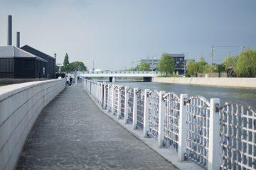 半田運河沿い